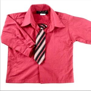 Rafael red dress shirt with tie